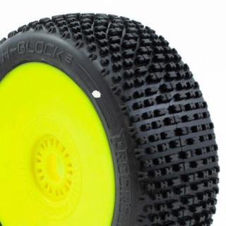 H-BLOCK V2 BUGGY C1 (SUPER SOFT) ragasztott gumik, sárga felnik (2db.)