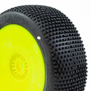 CLAYMORE V2 BUGGY C1 (SUPER SOFT) ragasztott gumik, sárga felnik (2db.)