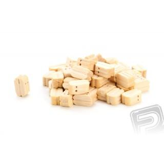 Kladka dvojitá dřevěná 7mm (50 ks)