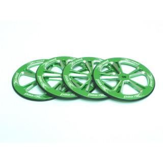 Alu set-up kerék 1/10 On-Road, zöld, 4db