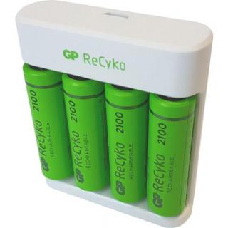 GP USB töltő Eco E411 + 4AA GP ReCyko 2000