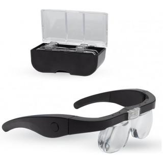 Lightcraft nagyító szemüveg PRO, LED világítással (szett)