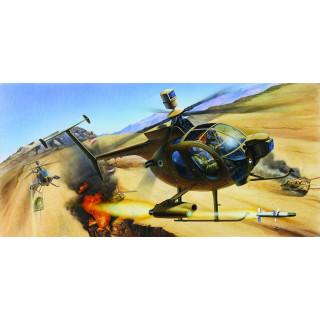 Model Kit vrtulník 12250 - HUGHES 500D TOW HELICOPTER (1:48)