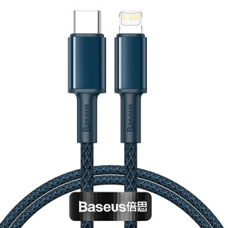 Baseus High Density Braided Cable Type-C to Lightning, PD, 20W, 2m (blue)