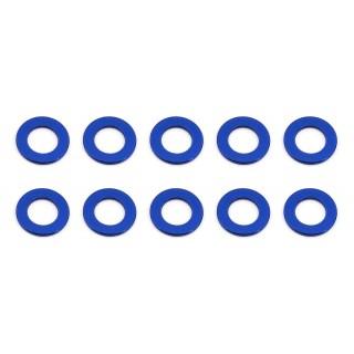 Ballstud alátét, 5.5x0.5mm, kék, alumínium (10 darab)