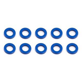 Ballstud alátét, 5.5x1.0mm, kék alu, 10 db.