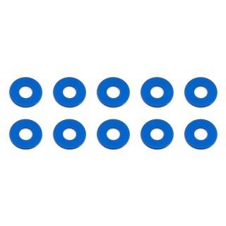 Bulkhead alátét, 7.8x0.5mm, kék alu, (10 darab)