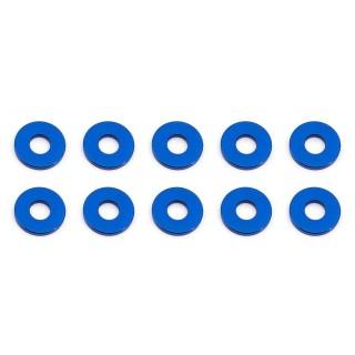Bulkhead alátét, 7.8x1.0mm, kék alu, 10 db.