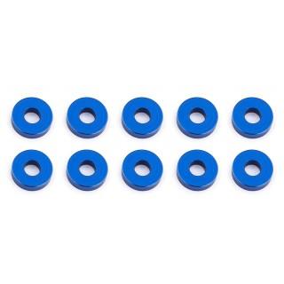 Bulkhead alátét, 7.8x2.0mm, kék alu, (10 darab)