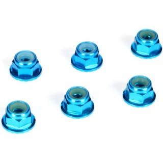 Samojistná matice M4 s přír. hliník modrý (6)