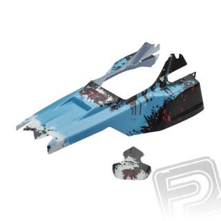 Lakovaná karoserie včetně nálepek, modrá, Raider 2014 Mega