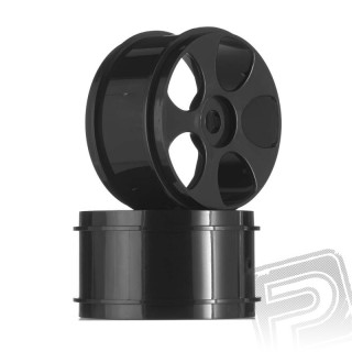 5-paprskové disky, černé, Talion (2 ks.)