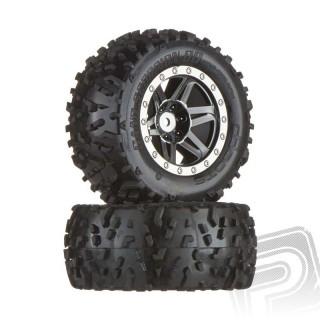 """""""dboots"""" Sand Scorpion XL zadní kola, černý/chrom disky, nalepené, (2 ks.)"""